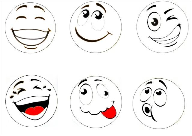 Sous verre autre id e bricolage activit s manuelles assistante maternelle - Smiley simple noir et blanc ...