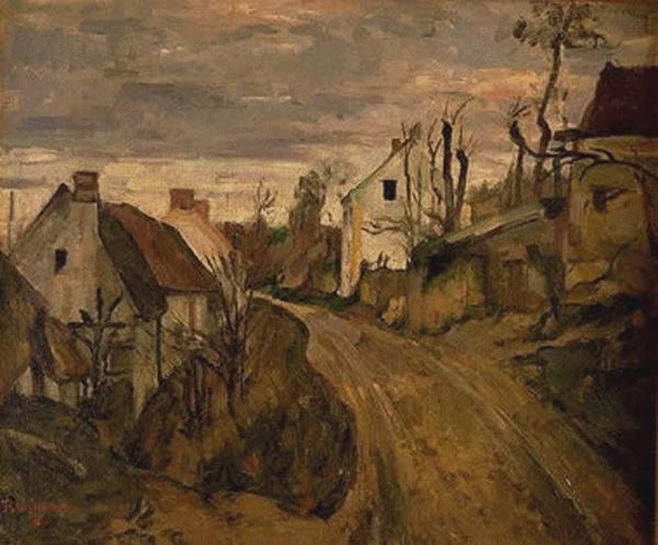 Paul Cézanne: Auvers-sur-Oise - tájkép