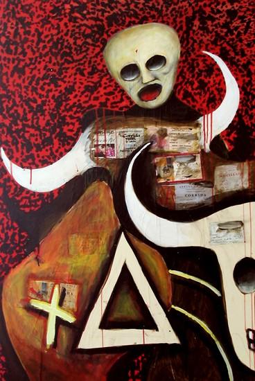tauromachie,bmc,peinture,