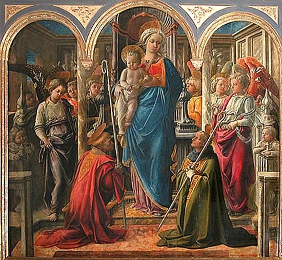 filippo lippi,filippino lippi,bmc,art maniac, peinture primitive, primitif italien,art de la renaissance,vierge,fresque,