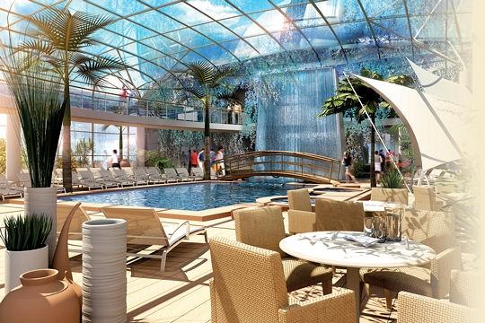 Design piscine interieure sous verriere tours 11 for Bar la piscine paris 18