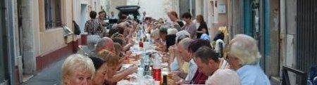 forumcitoyen de frontignan la peyrade, repas de quartier rue saint paul septembre 2009