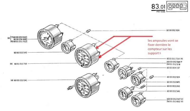 support d u0026 39 ampoule du compteur de vitesse - far