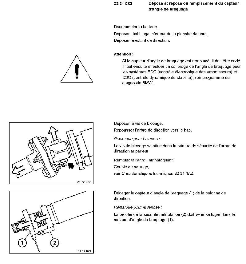 capteur angle direction hs sur ma 530d e39 liaison au sol pneumatiques amortisseurs. Black Bedroom Furniture Sets. Home Design Ideas