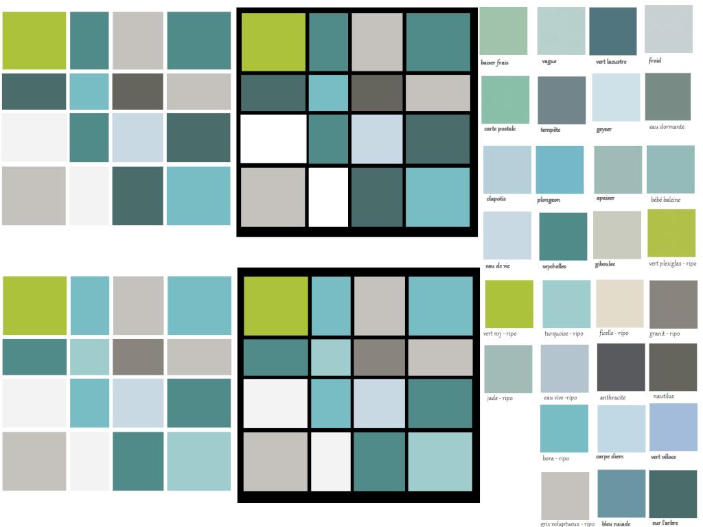 Tableau base de carr s de couleur for Peinture associer les couleurs