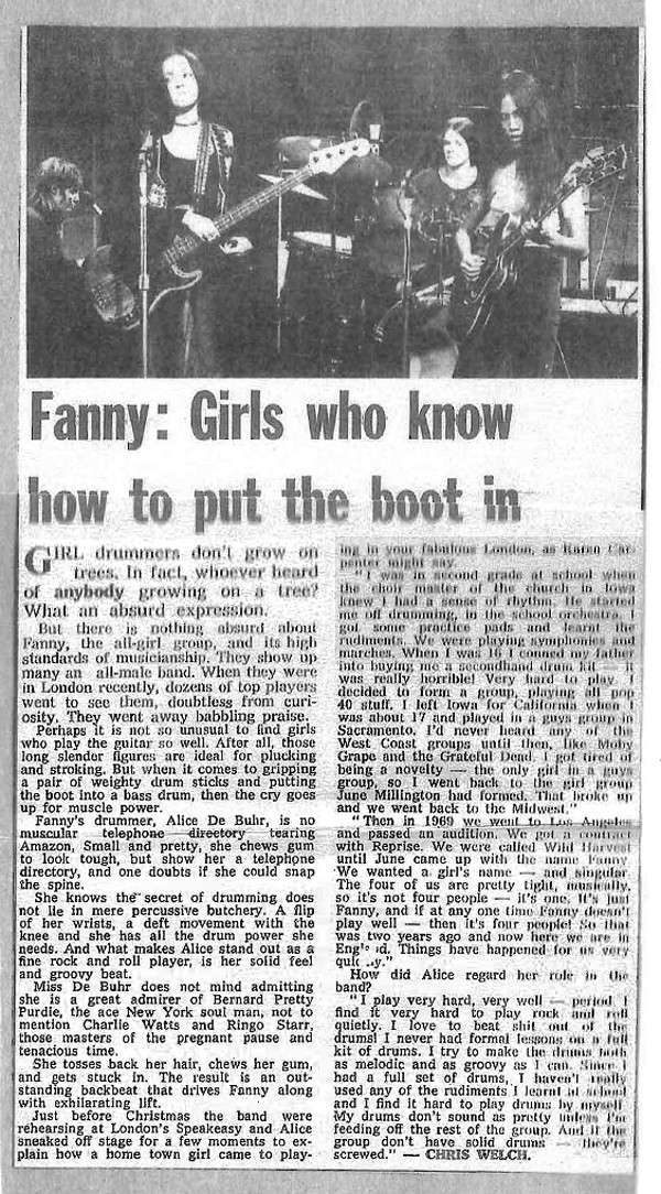 Fanny: Girls Put the Boot In!