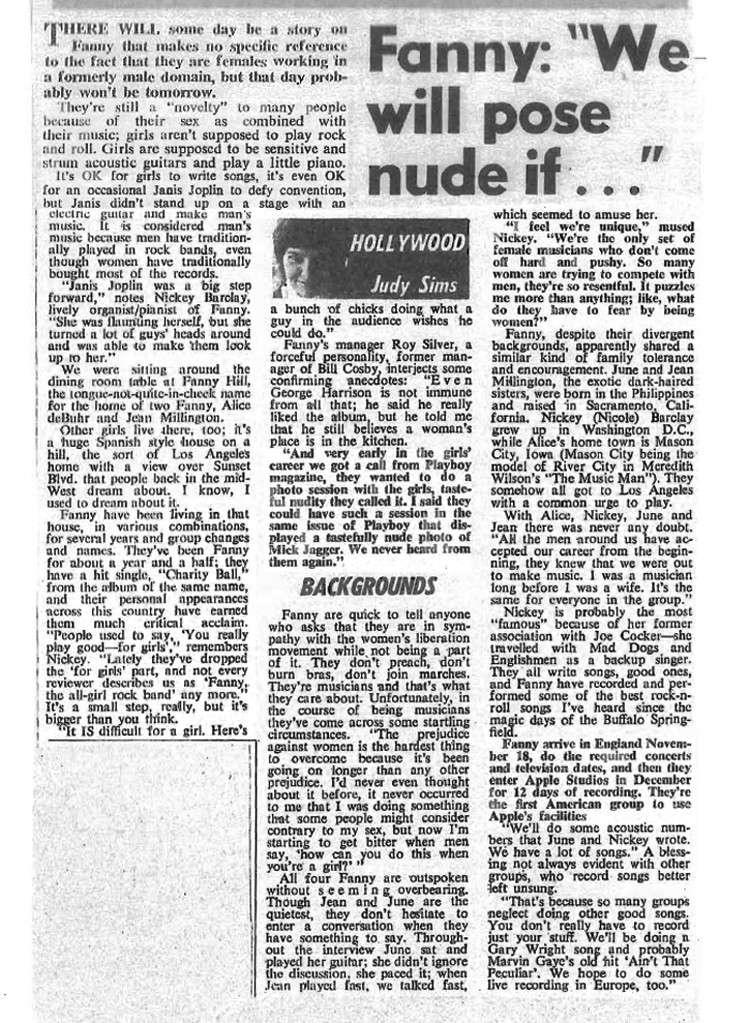 Fanny Pose Nude?