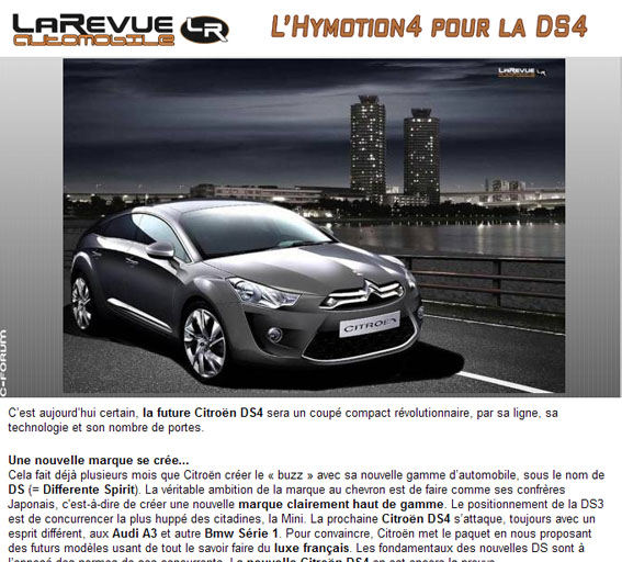 citroen ds4 ds5 far forum forum automobile de discussions. Black Bedroom Furniture Sets. Home Design Ideas