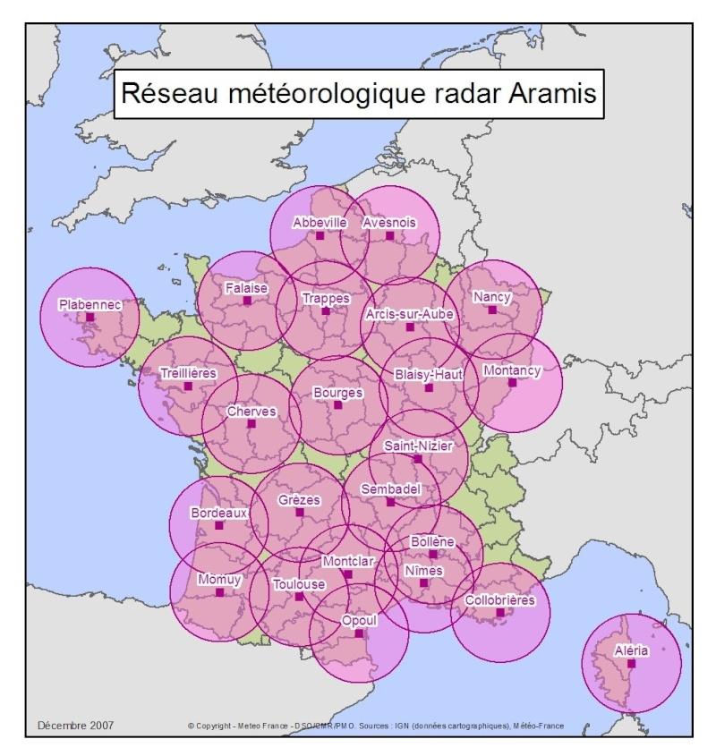 carte radars militaires