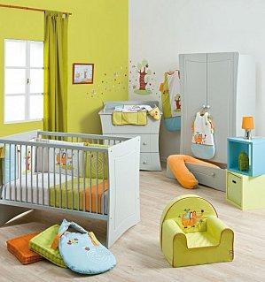 Le classique peinture pour chambre de b b fille help couleurs reprendre for Chambre orange et vert anis