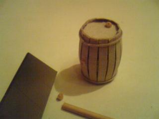 52Как сделать бочонок для меда из картона