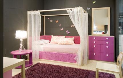 Juego Dormitorio Juvenil. Mueble Melamina Blanco Y Rosa Muebles De ...