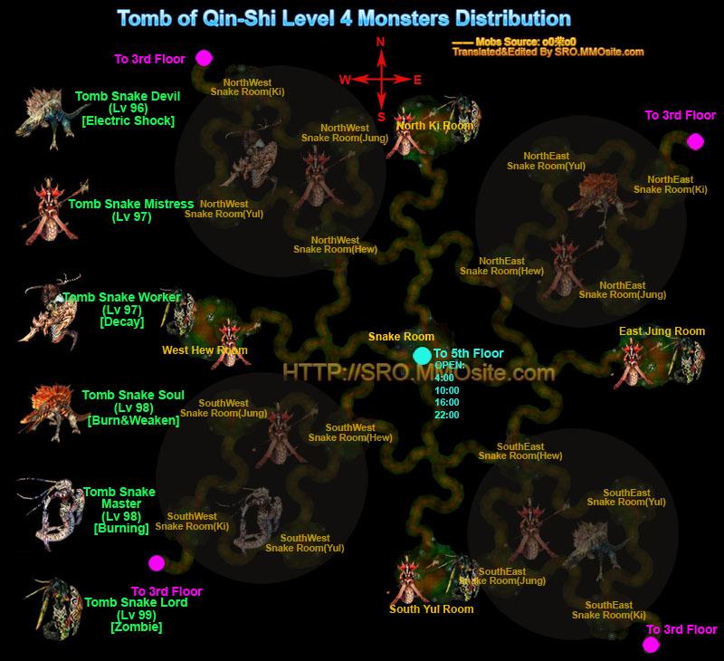 Monster distribution map for Floor 5 boss map