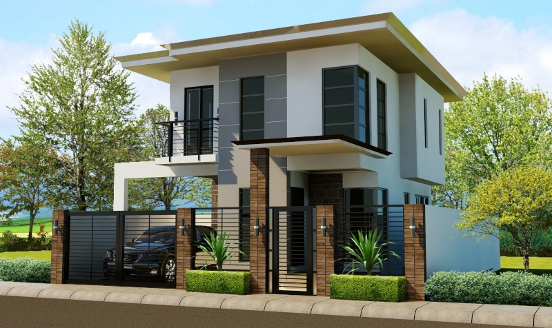 Modern zen camsur for Small house exterior design philippines