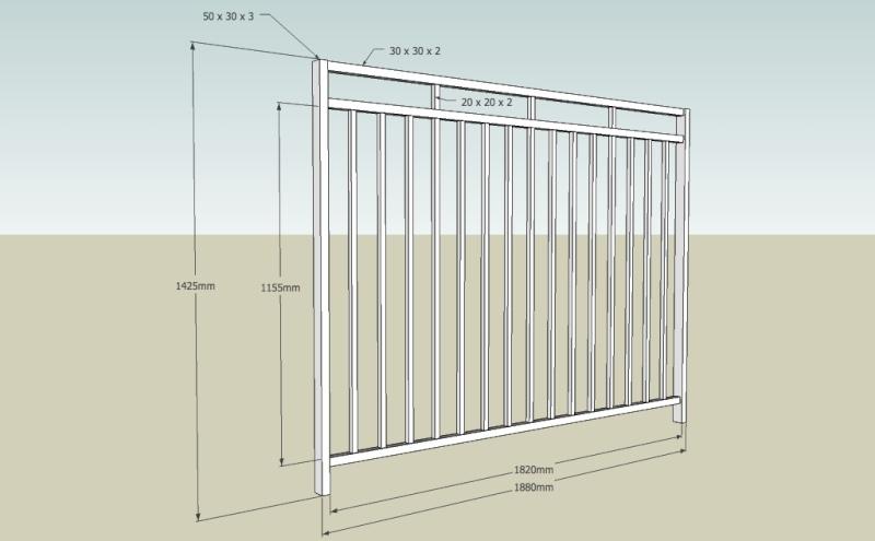 R alisation une barri re de piscine en ferronnerie - Barriere en fer pour terrasse ...