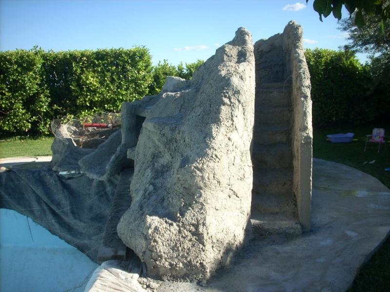 Projet construction faux rocher avec cascade pour piscine besoin de conseille page 3 - Prix m3 beton fait main ...