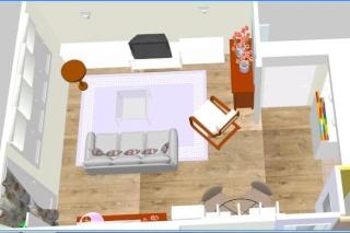 Salon nouvelle d co p12 cadres et miroirs petit mur - Cuisine au milieu de la piece ...