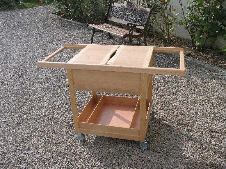 R alisation une desserte pour plancha gaz - Construire table bois ...