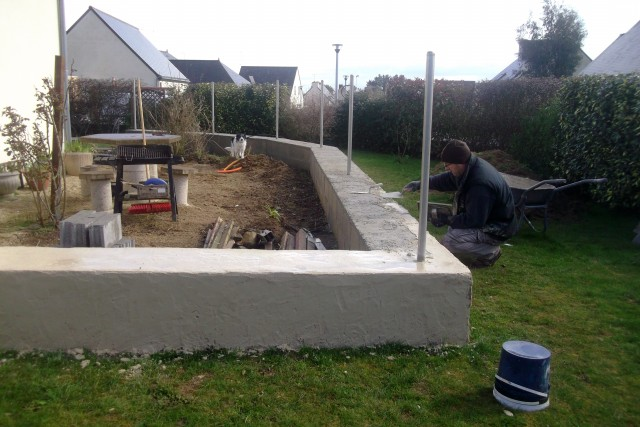 Photos muret de ma terrasse for Eclairage exterieur pour muret